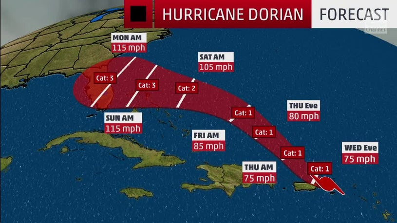 Dorian Could Make Landfall as a Category 3 Storm - Boca ...
