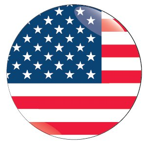 bandiera usa rotonda - CAMEO Luxury B&B Vatican