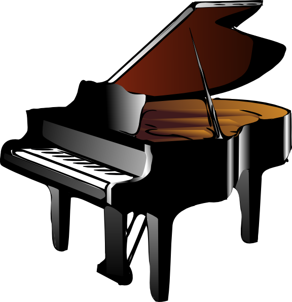 Black Grand Piano Clip Art at Clker.com - vector clip art online, royalty free & public domain