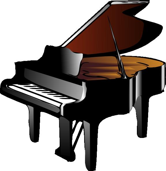 Black Grand Piano Clip Art at Clker.com - vector clip art online, royalty free & public domain
