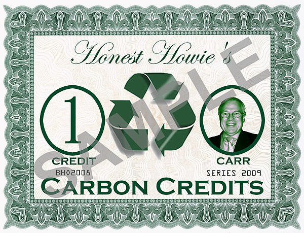 Honest Howie's Carbon Credits