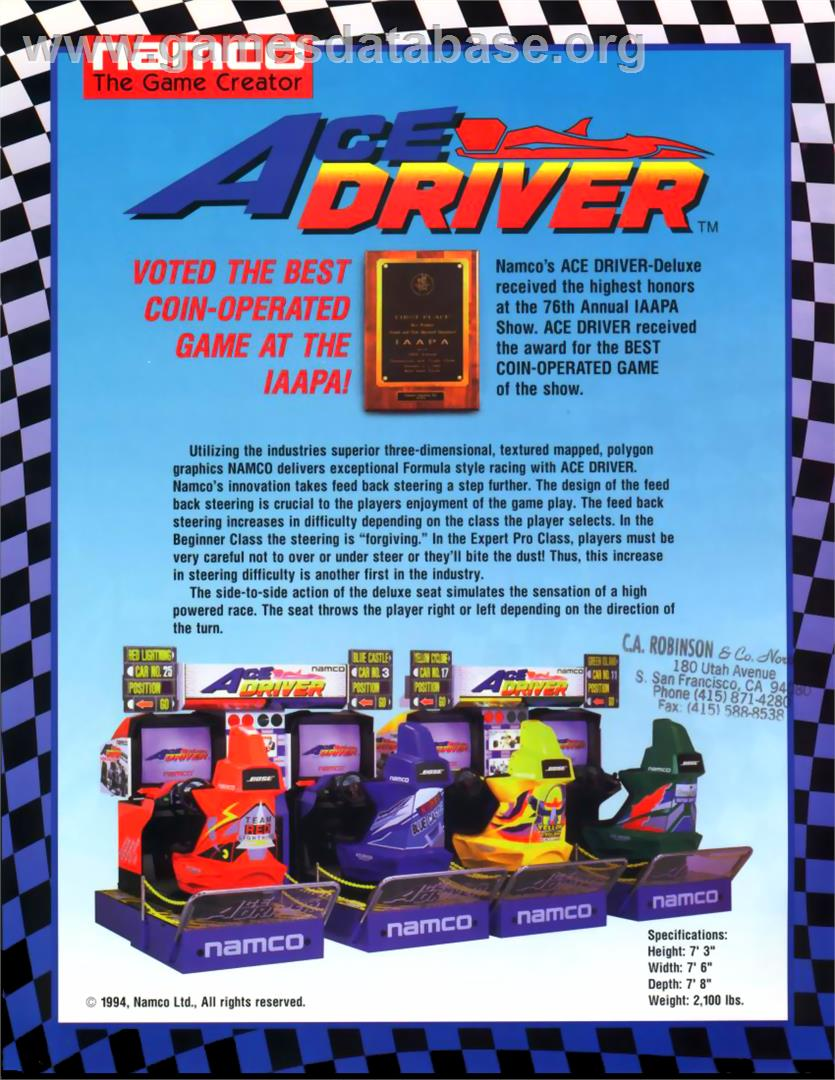 Ace Driver - Arcade - Games Database