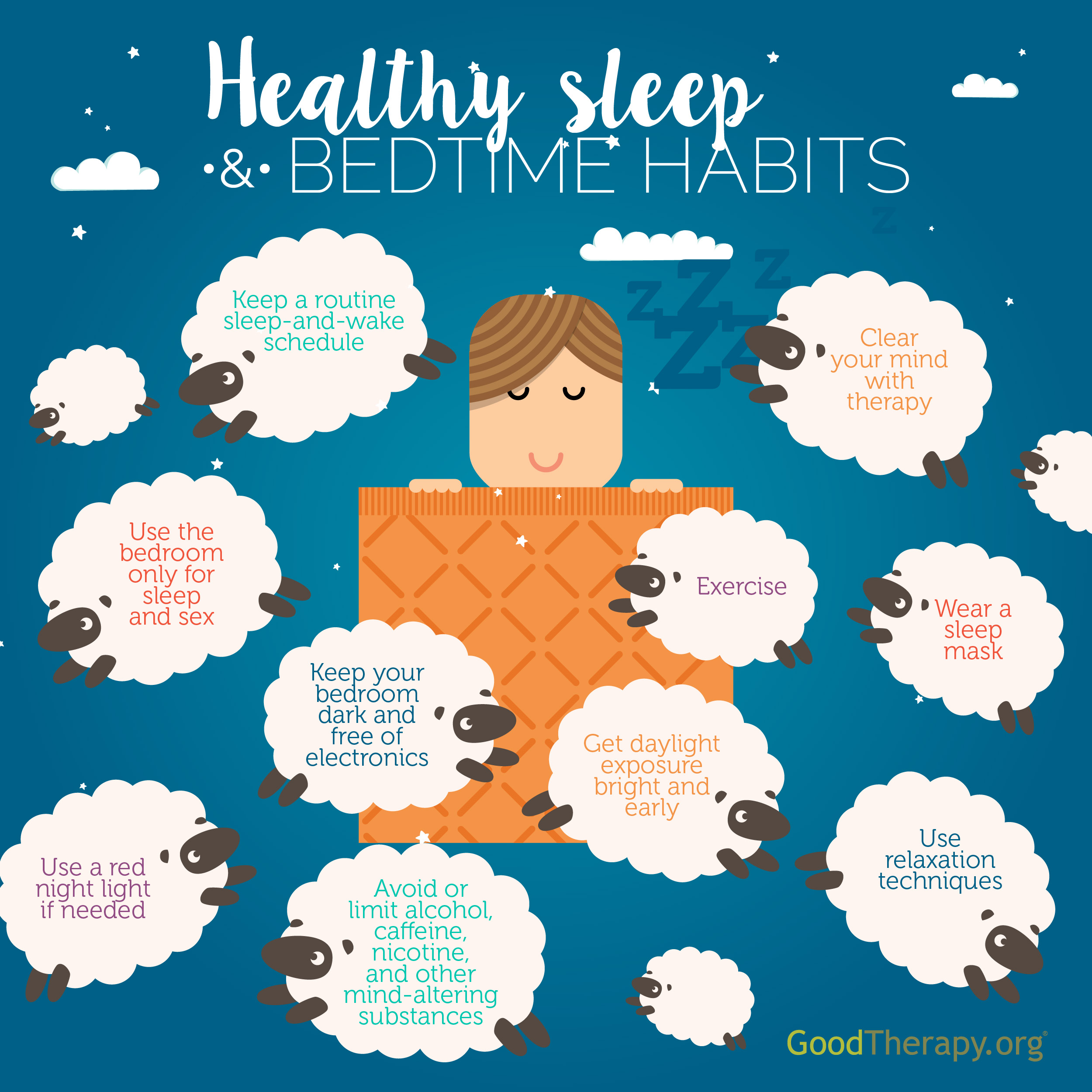 Sleep Hygiene Infographic by GoodTherapy.org