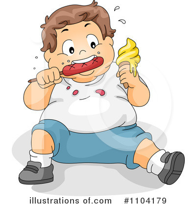 Child Obesity Clipart #1104179 - Illustration by BNP ...