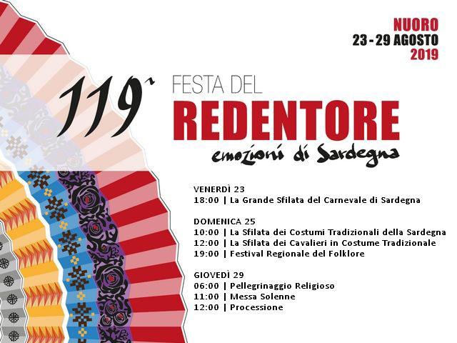 FESTA DEL REDENTORE - NUORO - 23-29 AGOSTO 2019 ...