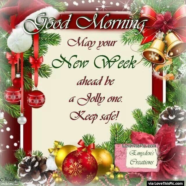 Good Morning Have A Jolly New Week Christmas Quote ...