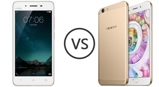 vivo V3 vs Oppo F1s - Phone Comparison