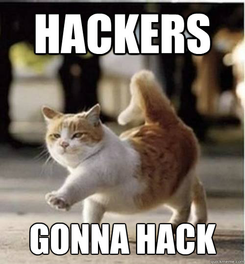 Hackers Gonna Hack - Haters... - quickmeme