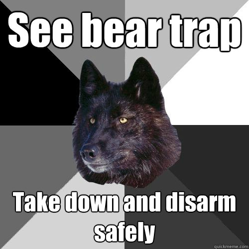 See bear trap Take down and disarm safely - Sanity Wolf ...