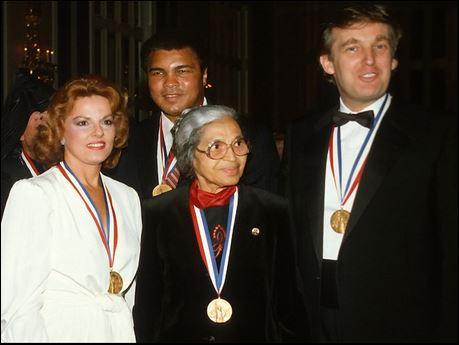 1986: Trump, Rosa Parks, Muhammad Ali received 'Ellis ...