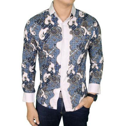 16+ Model Kemeja Batik Pria Kombinasi Modern Terbaik