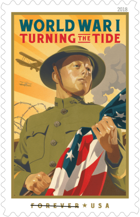 USPS Select 2018 Stamps include World War I Turning the ...