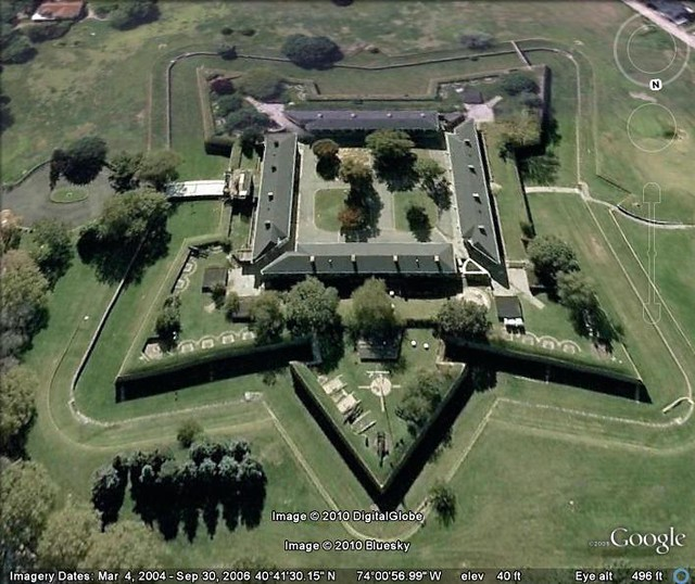 Google Earth - Fort Jay | ROLL OVER the picture to discover … | Flickr