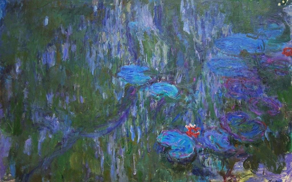 Nymphéas, reflets de saule (C Monet - W 1860) | Huile sur ...
