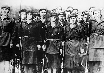 Women of the Red Army - Russian revolution - October revol ...