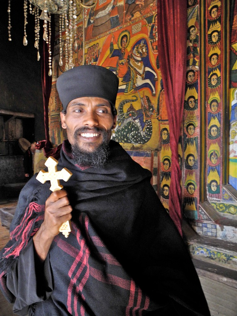 Ethiopian Priest | Surrounded by St George slaying the drago… | Flickr