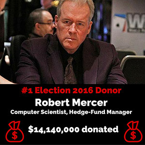 The Top 5 Individual Donors for Election 2016