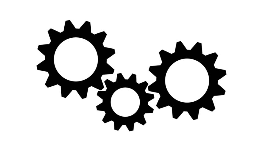 Silhouette Gears On A White Background Stock Footage Video ...