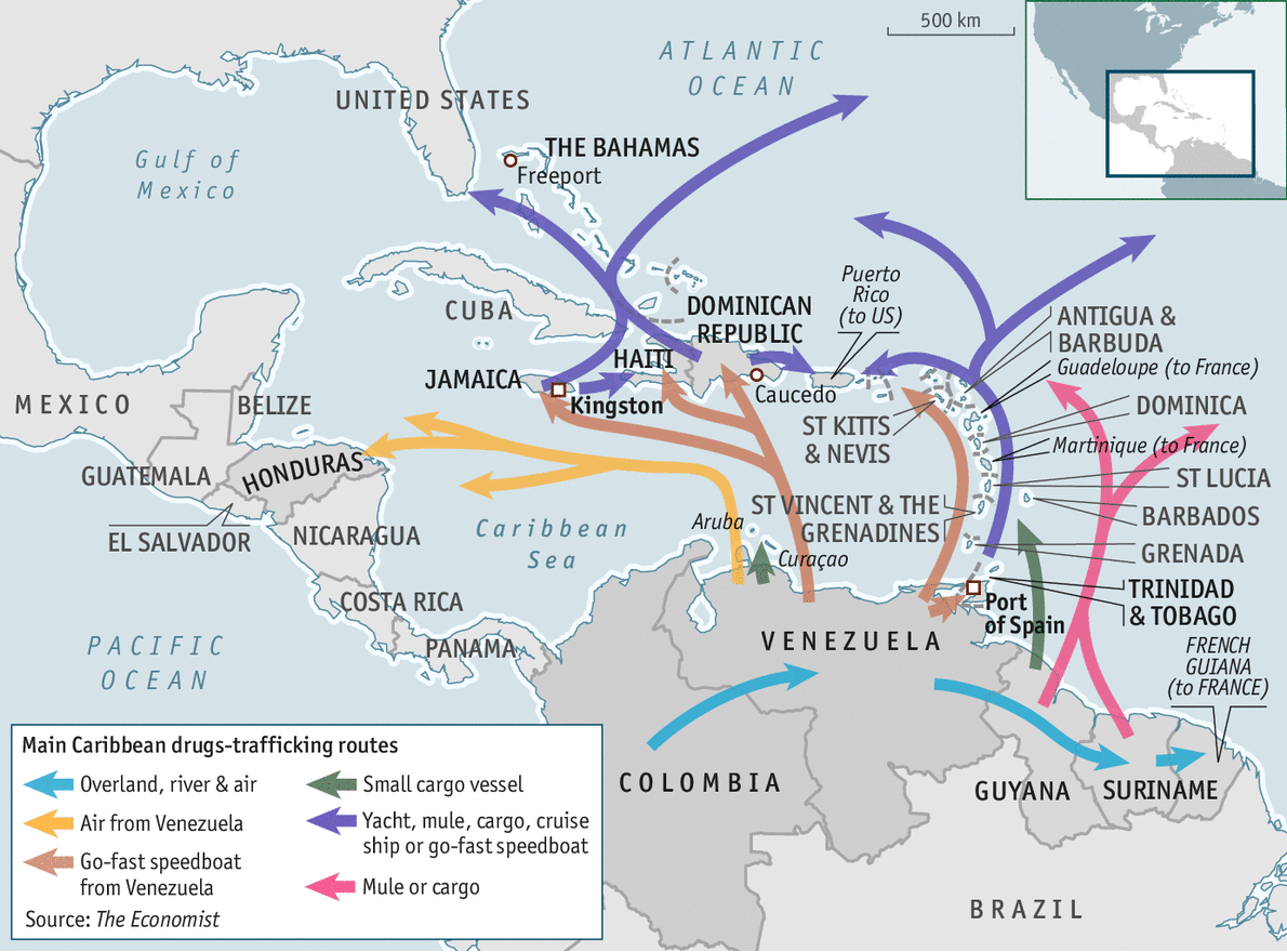 Full circle - Drugs trafficking in the Caribbean