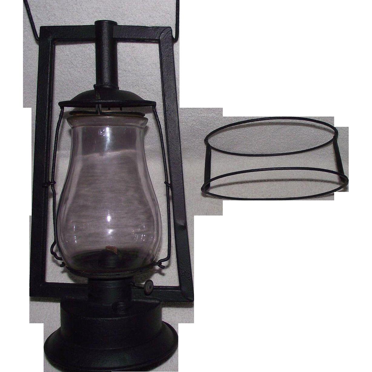 "Rare Pre WW-1 DIETZ ""Square Lift Tubular"" Model Lantern ..."