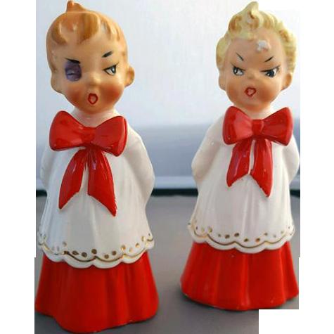 Vintage Ceramic Naughty Christmas Choir Boys Figures ...