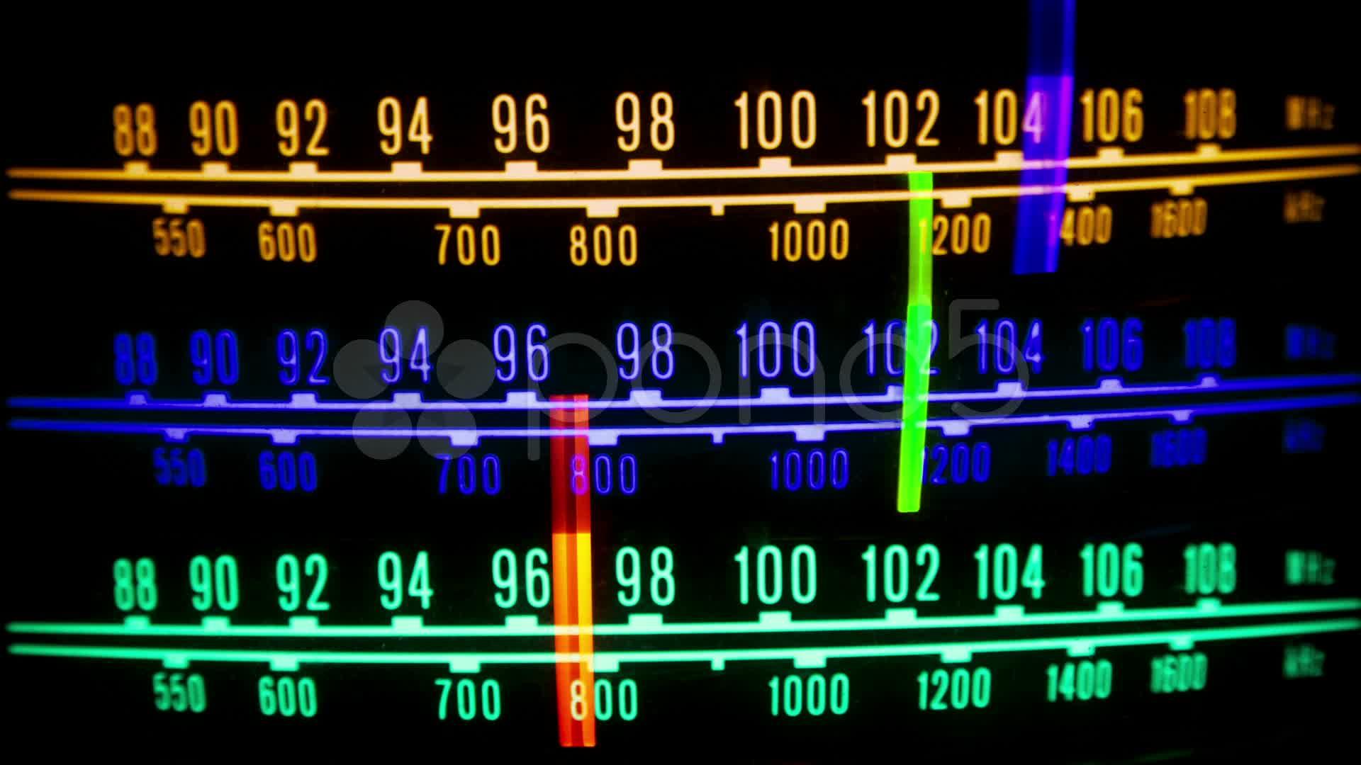 Glowing vintage radio dial ~ HD & 4K Stock Footage #12688253