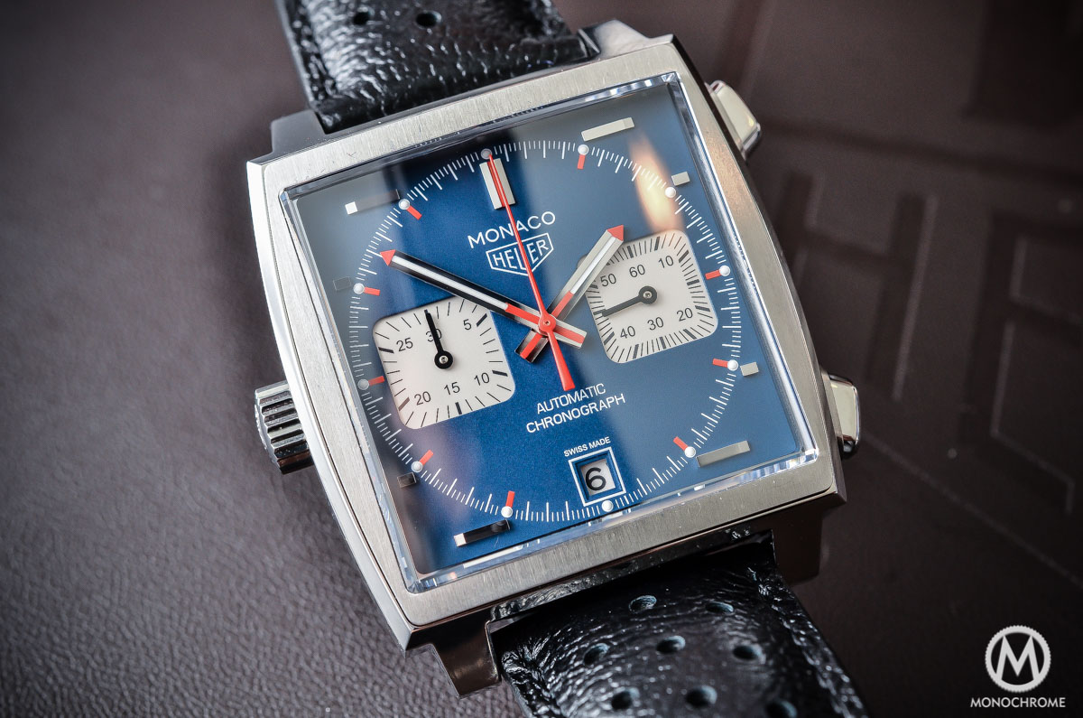 "A look at the 2015 TAG Heuer Monaco Calibre 11 ""Steve ..."