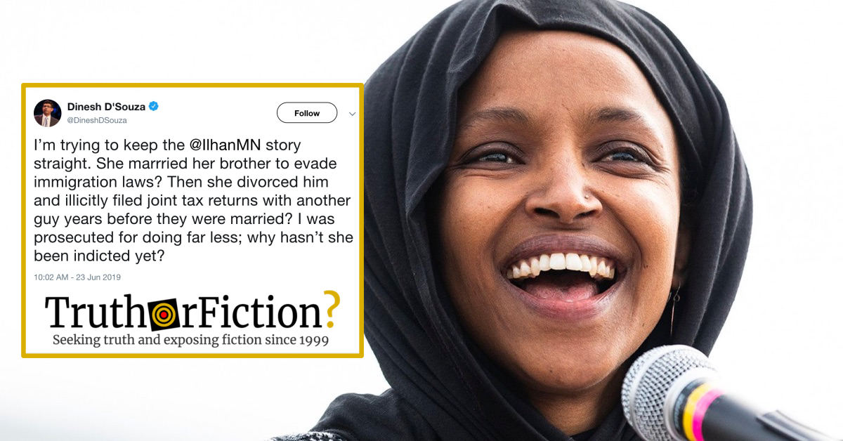 There Is No Credible Evidence Rep. Ilhan Omar Married Her ...