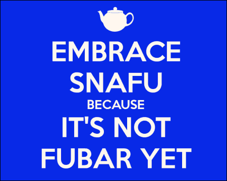 Are We in a Snafu or Fubar State of Mind?