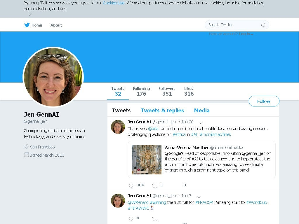 Corrupt Google Exec, Jen Gennai, Has Deleted Her Twitter ...