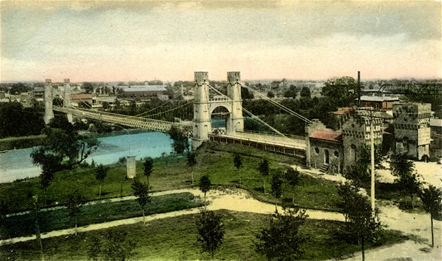 Vintage Postcard, Waco Suspension Bridge, Waco, Texas ...