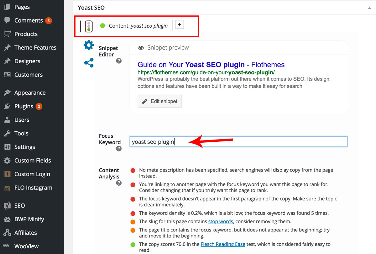 Your Guide on how to use Yoast SEO Plugin by Flothemes