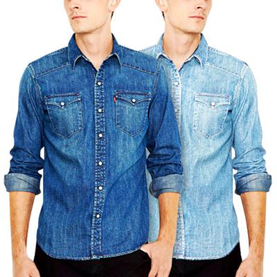 Qoo10 - Kemeja Jeans Panjang / Kemeja Denim / High Quality READY STOCK !!! : Pakaian Pria