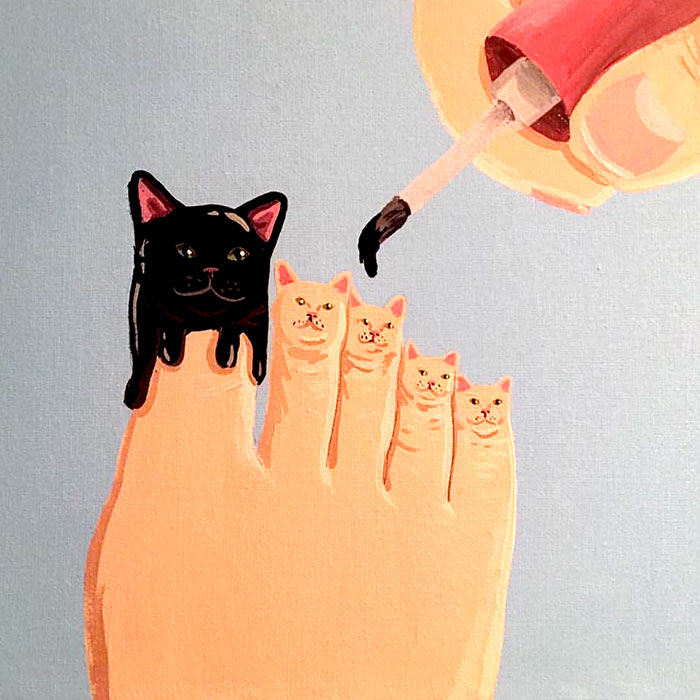 These Cool Cat Paintings Are Super Strange - I Can Has ...