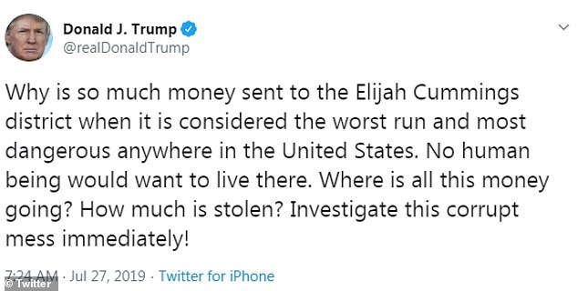 Trump calls Democrat Congressman Elijah Cummings a bully ...