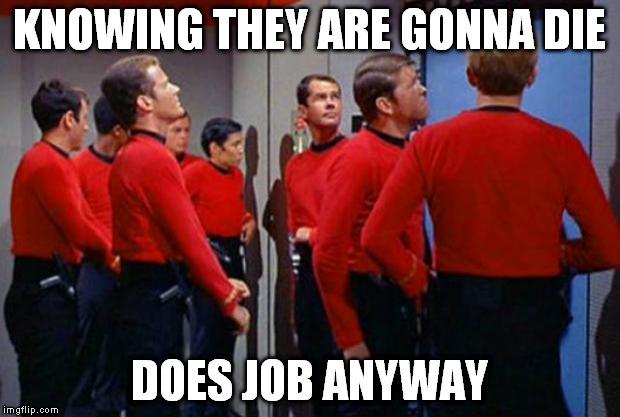 Star Trek Red Shirts - Imgflip
