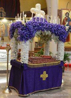 The Good Friday Epitaphios is the procession of the Christ's epitaph from the Church, out to the ...