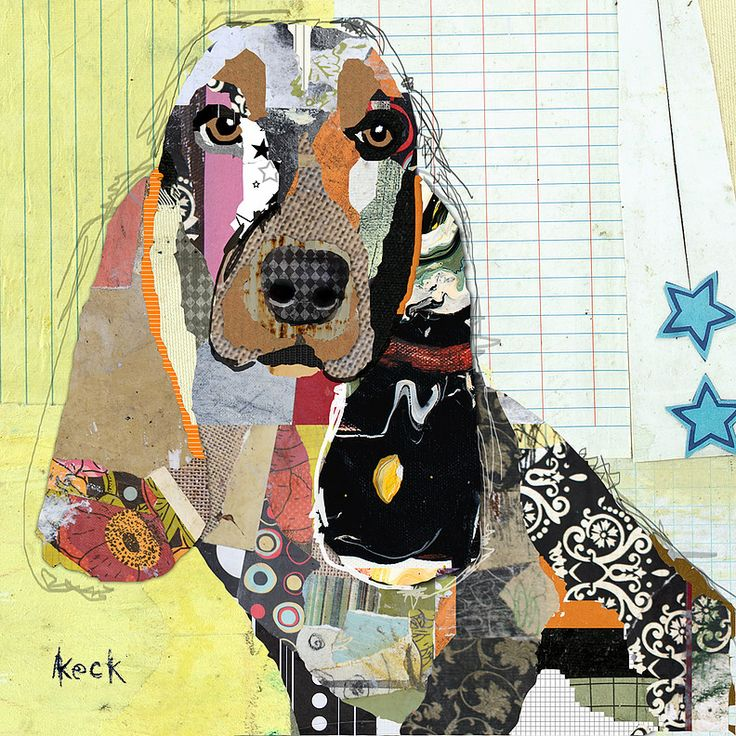 94 best DOG ART COLLAGE of Michel Keck images on Pinterest ...