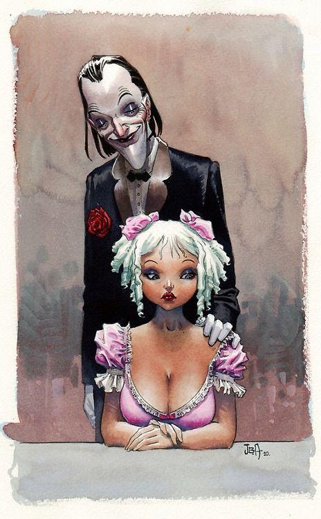 The Joker and Harley Quinn by Jean-Baptiste Andreae ...