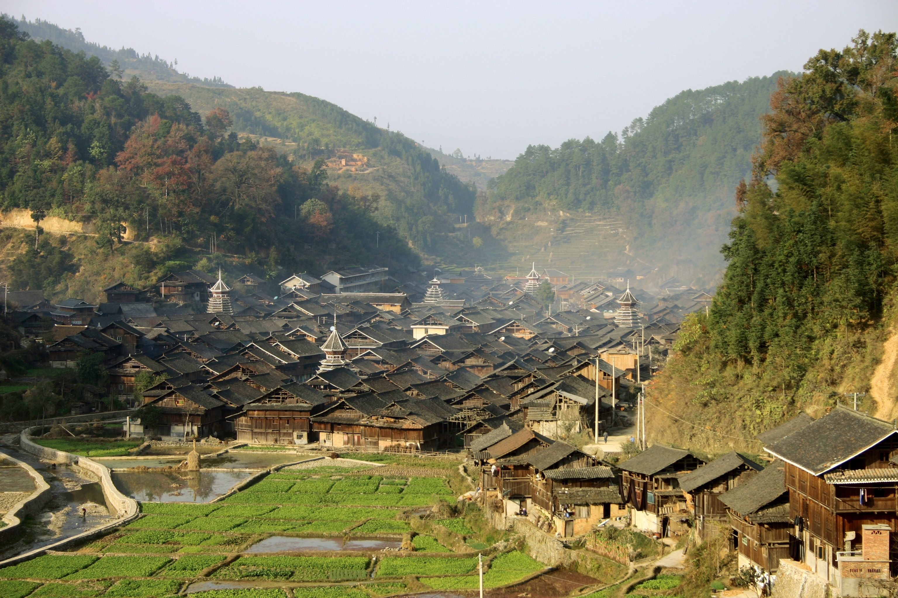 rural china village - Google Search | mountainous building ...