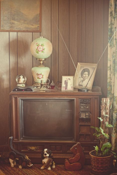 Wood paneling, heavy box TVs that look like a piece of ...