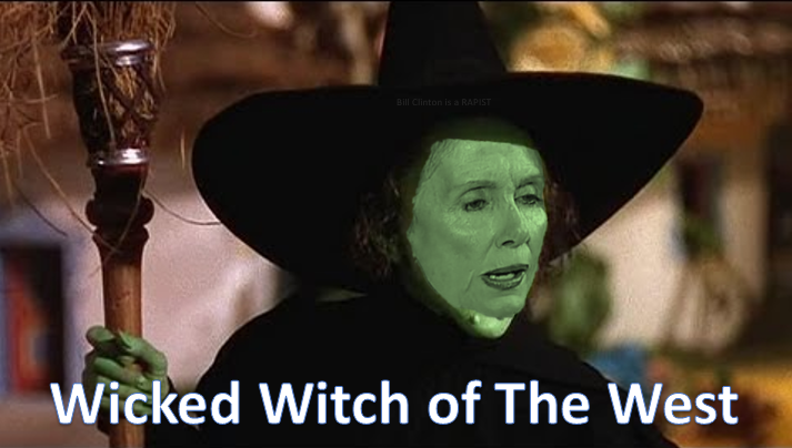Nancy Pelosi, The Wicked Witch of the West. She was ...