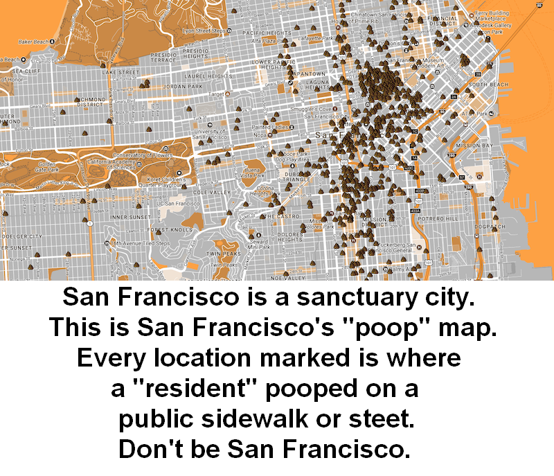 San Francisco has a poop map. The Meme Farm says Don't be ...