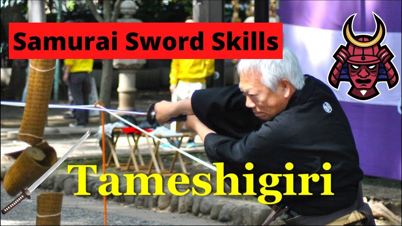 Tameshigiri - Japanese Sword Test Cutting in Fuchu - YouTube