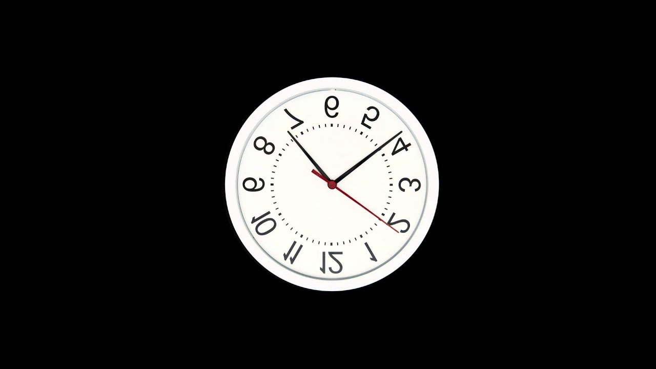 Upside Down Wall Clock Effect with Time Lapse Fast Moving ...