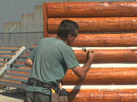 How To Apply Log Jam Chinking: Tooling and Clean Up - YouTube