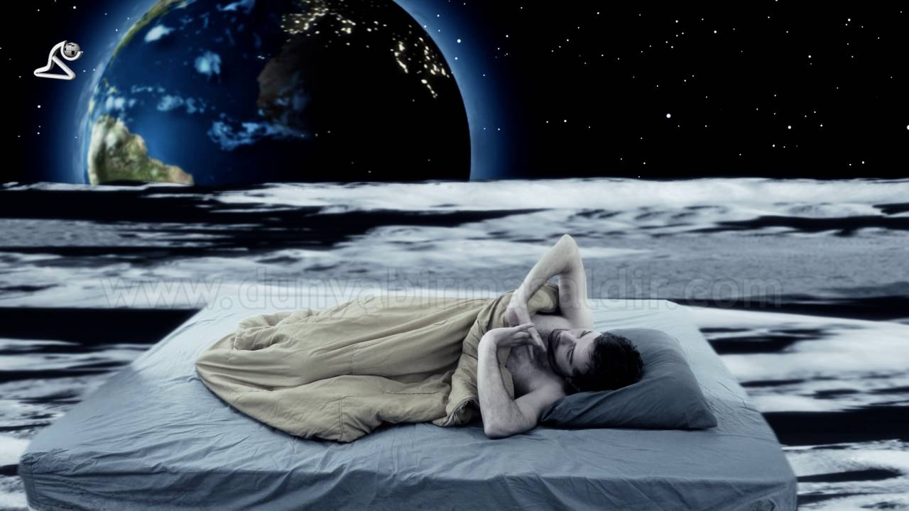 waking up on moon - dream fantasy scene - stock footage ...