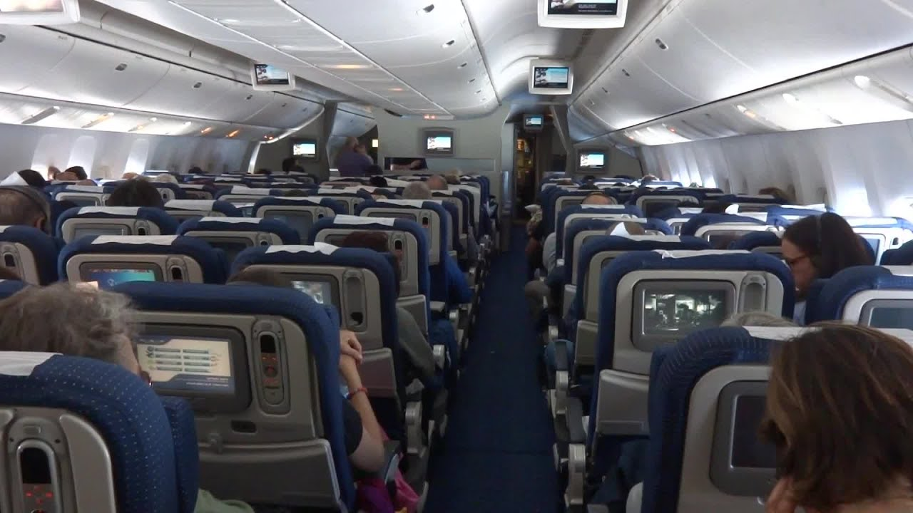 Passengers Inside Airplane. Stock Footage - YouTube