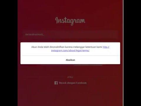 Cara Mengembalikan Akun Instagram Yang Dinonaktifkan/Di ...