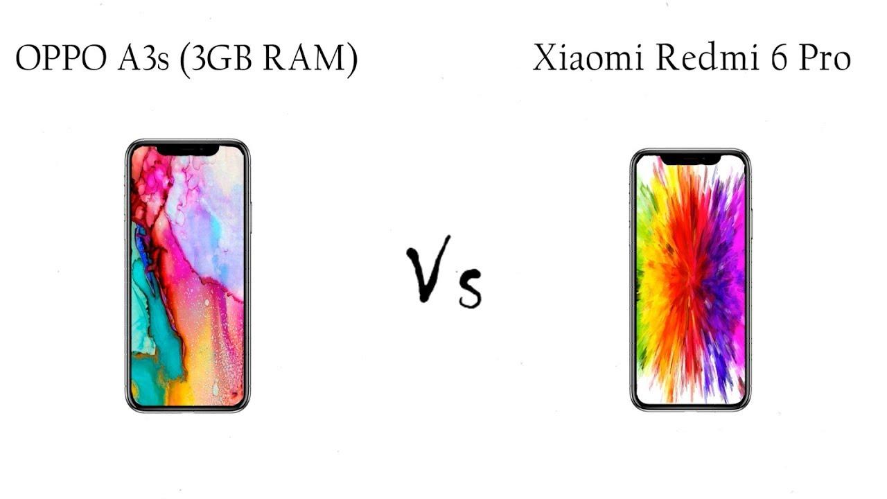 OPPO A3s 3GB RAM Vs Xiaomi Redmi 6 Pro   Mobile Arena